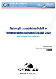 2015.03-Statystyki-uczestnictwa-Polski-w-Programie-Ramowym-HORYZONT-2020-raport-skrocony